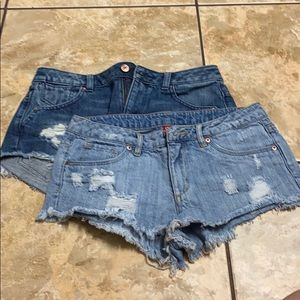 H&M Divided Jean Ripped short bundle size 6